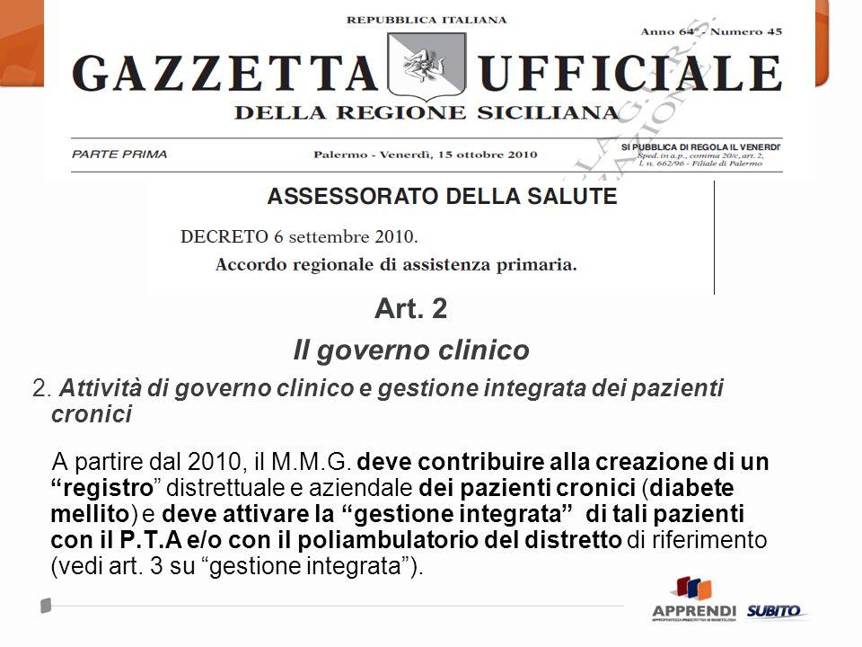 Art.2 Il governo clinico 2.