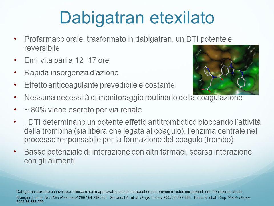 I DTI determinano un potente effetto antitrombotico bloccando lattività della trombina (sia libera che legata al coagulo), lenzima centrale nel proces