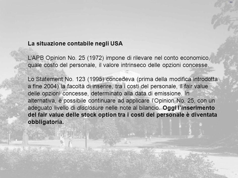 m&m La situazione contabile negli USA LAPB Opinion No.