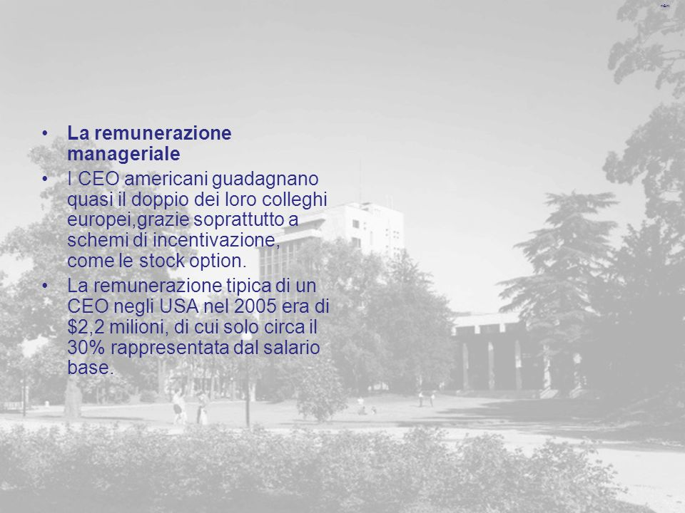 m&m Gli effetti sul bilancio secondo i principi italiani Al momento dellassegnazione delle opzioni non si verifica alcun effetto sulle grandezze economiche, patrimoniali e finanziarie dellimpresa.
