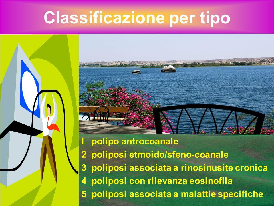 Classificazione istologica I Edematoso (eosinofilo): 85-90% 2 Fibroso (metaplasia infiammatoria) 3 Iperplastico (ghiandolare) 4 Atipico (neoplastico)