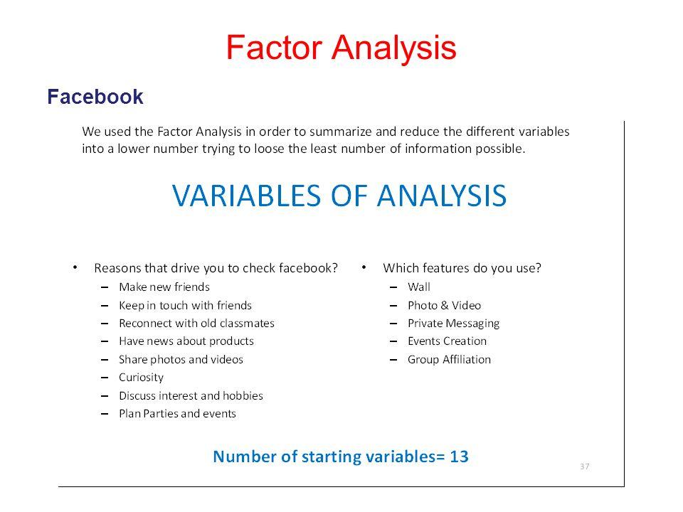 Factor Analysis Facebook