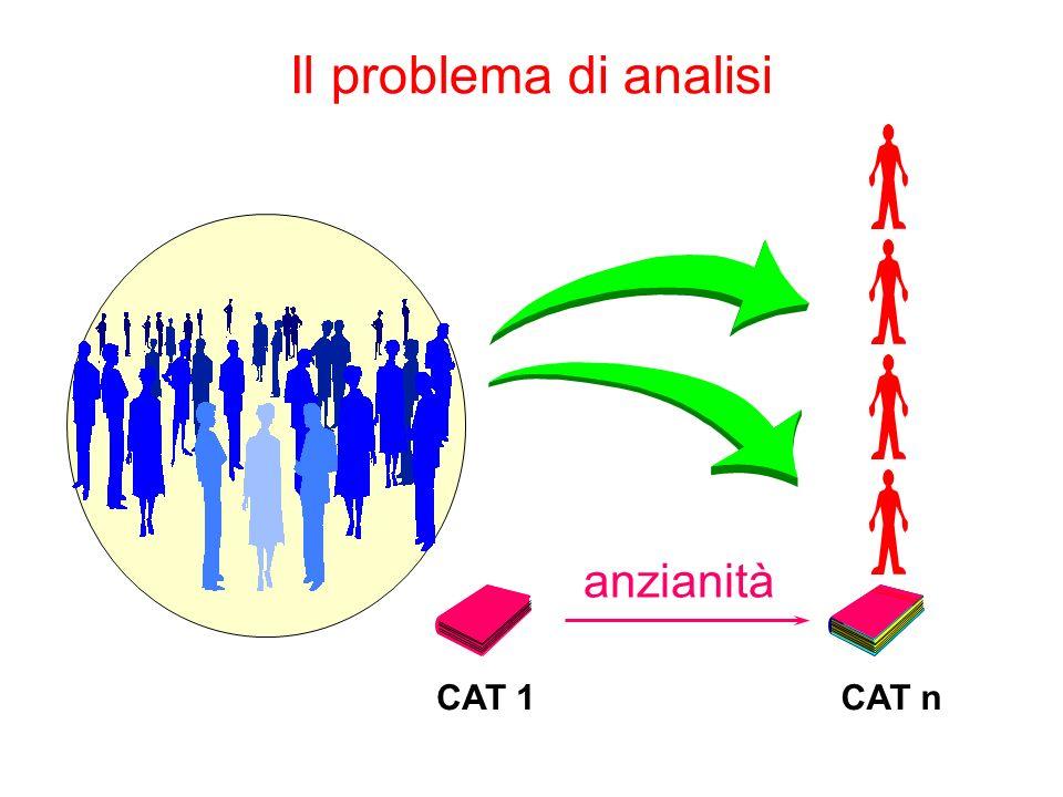 Il problema di analisi CAT 1CAT n anzianità