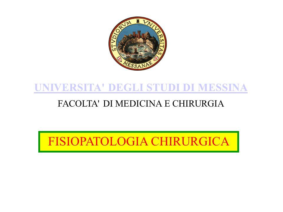 FISIOPATOLOGIA CHIRURGICA UNIVERSITA DEGLI STUDI DI MESSINA FACOLTA DI MEDICINA E CHIRURGIA
