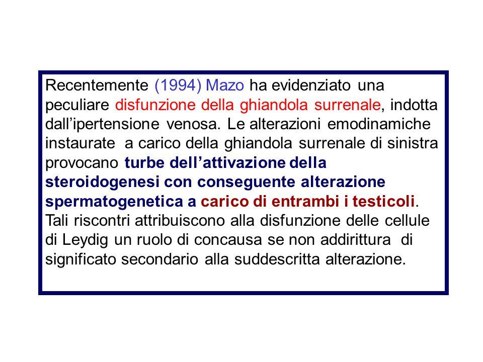 Lipofunzione delle cellule di Leydig assieme alla riduzione dellandrogeno testicolare provoca l'arresto della maturazione allo stadio primitivo di spe