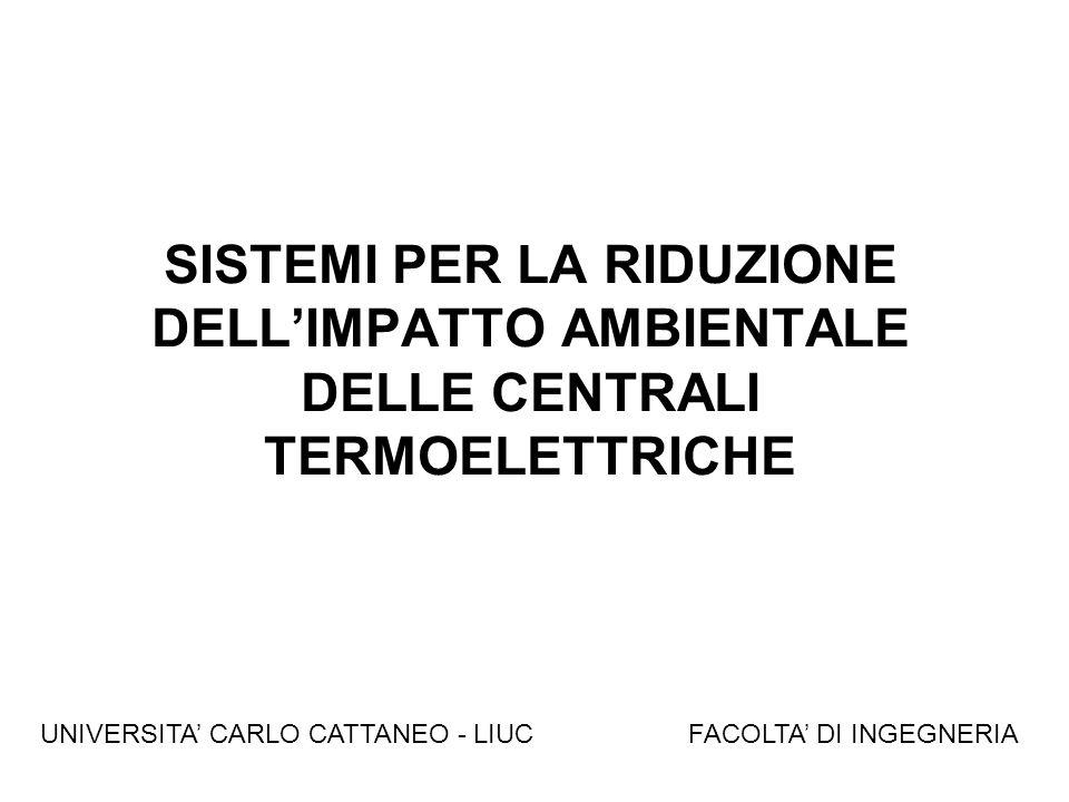 SISTEMI PER LA RIDUZIONE DELLIMPATTO AMBIENTALE DELLE CENTRALI TERMOELETTRICHE FACOLTA DI INGEGNERIAUNIVERSITA CARLO CATTANEO - LIUC