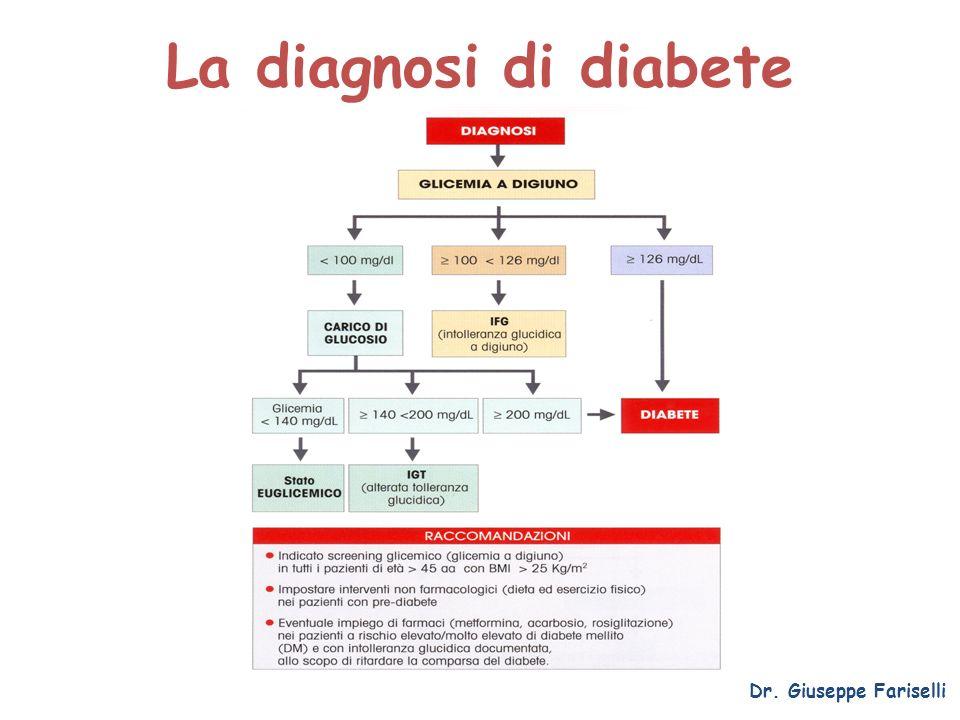 La diagnosi di diabete Dr. Giuseppe Fariselli