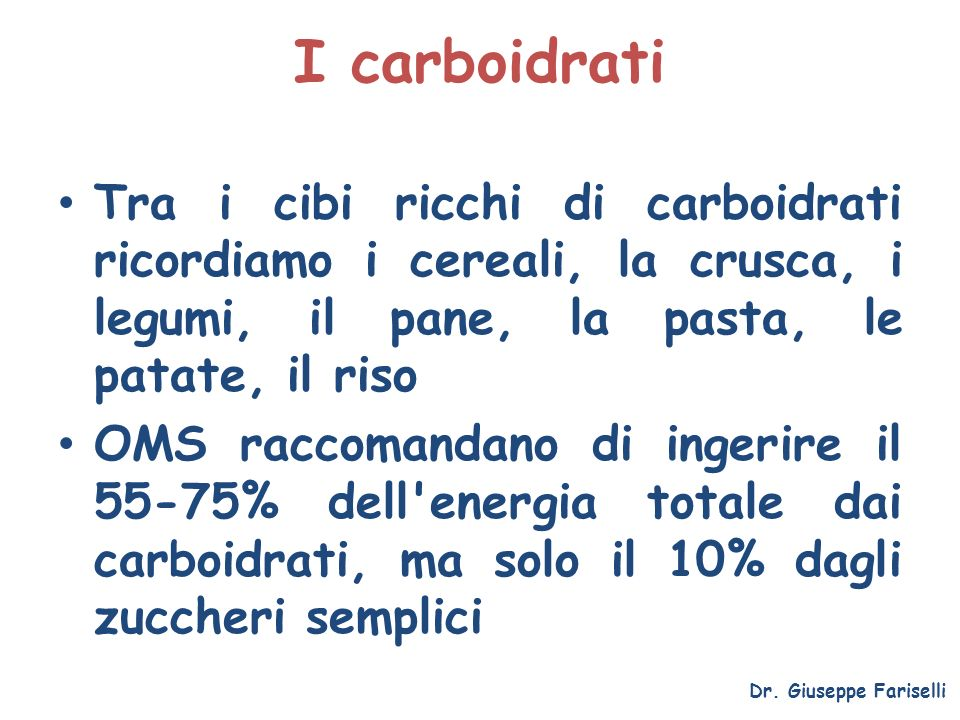La sindrome metabolica Dr. Giuseppe Fariselli