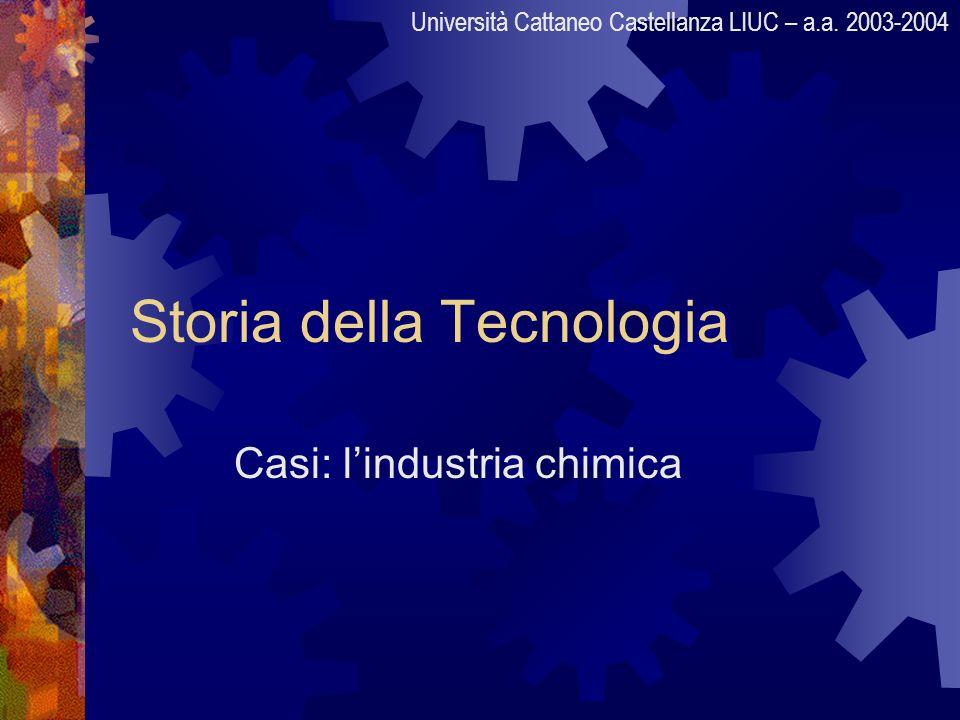 Storia della Tecnologia Casi: lindustria chimica Università Cattaneo Castellanza LIUC – a.a. 2003-2004