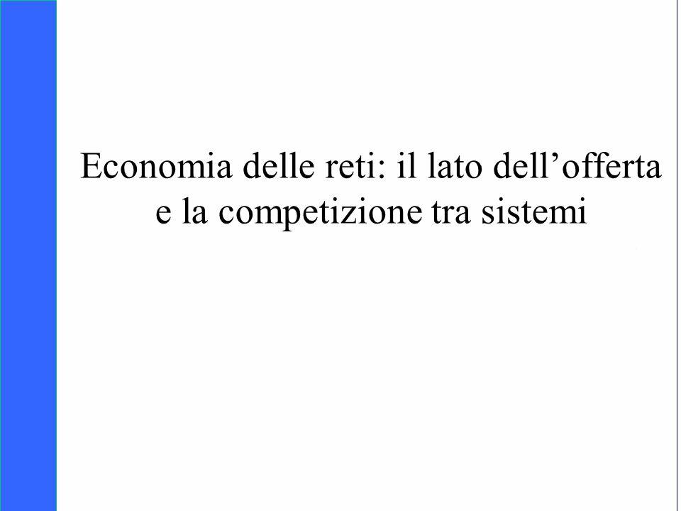 Copyright SDA Bocconi 2005 Competing Technologies, Network Externalities …n 1 Economia delle reti: il lato dellofferta e la competizione tra sistemi