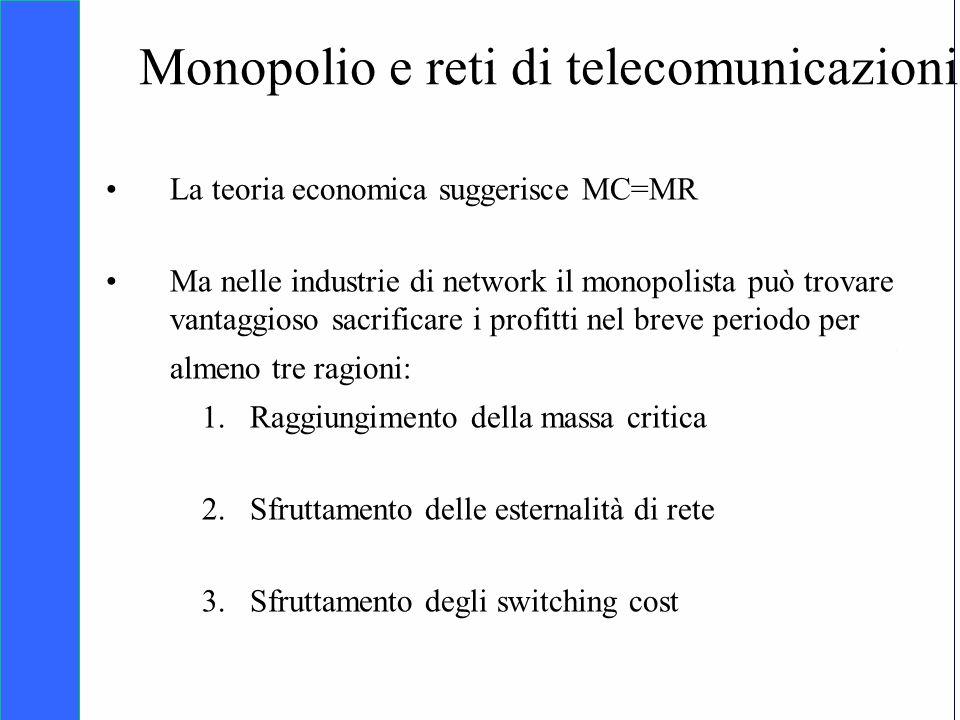 Copyright SDA Bocconi 2005 Competing Technologies, Network Externalities …n 10 Monopolio e reti di telecomunicazioni La teoria economica suggerisce MC