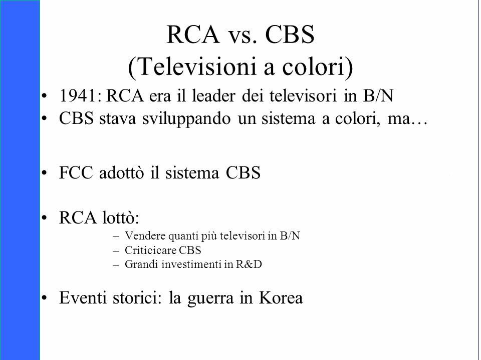 Copyright SDA Bocconi 2005 Competing Technologies, Network Externalities …n 34 RCA vs. CBS (Televisioni a colori) 1941: RCA era il leader dei televiso