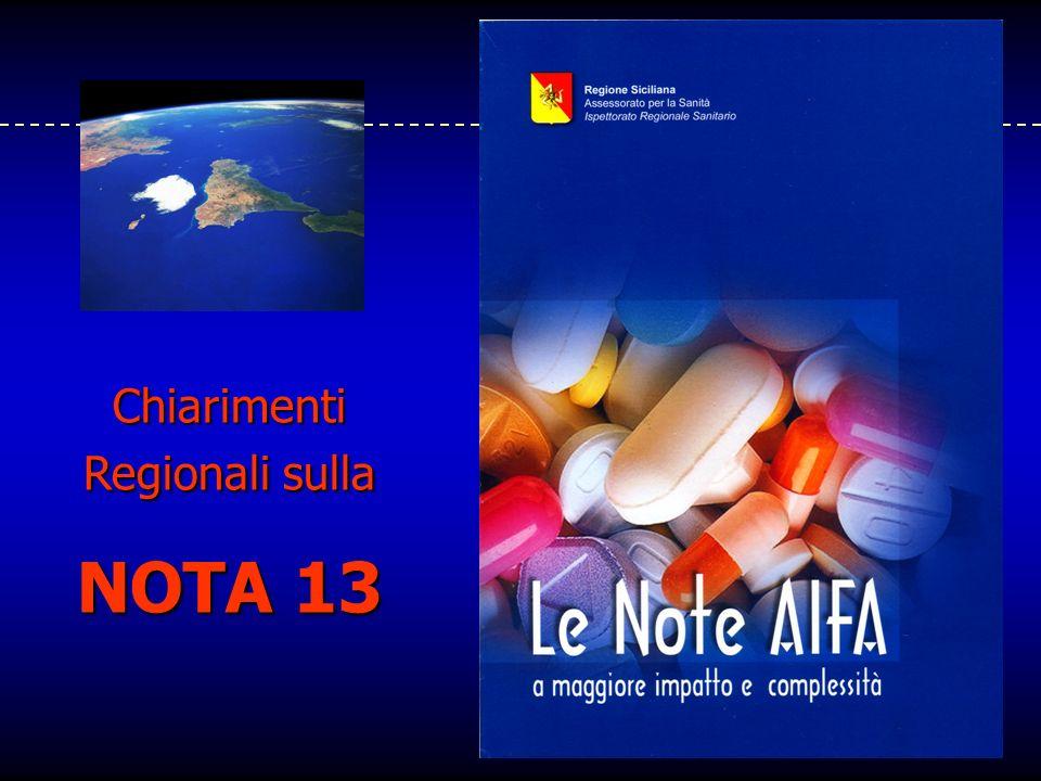 Chiarimenti Regionali sulla NOTA 13