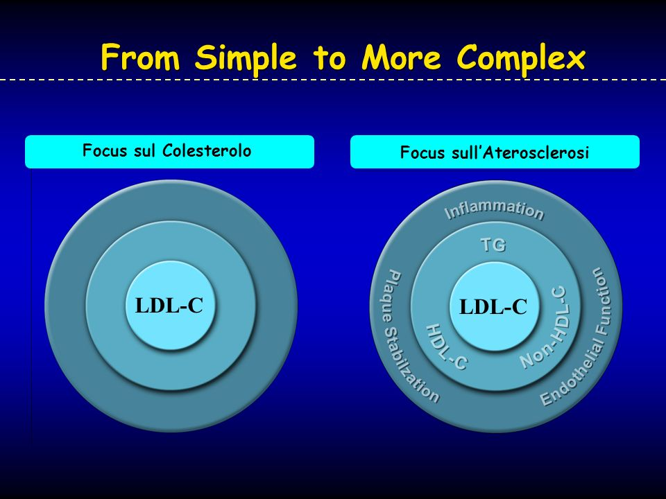 Focus sullAterosclerosi LDL-C Focus sul Colesterolo LDL-C From Simple to More Complex