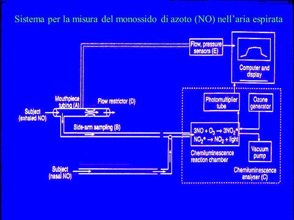 Sistema per la misura del monossido di azoto (NO) nellaria espirata