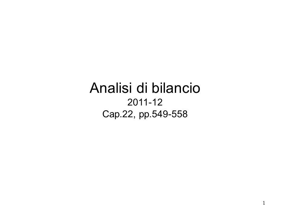 1 Analisi di bilancio 2011-12 Cap.22, pp.549-558