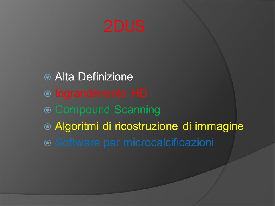 2DUS Alta Definizione Ingrandimento HD Compound Scanning Algoritmi di ricostruzione di immagine Software per microcalcificazioni