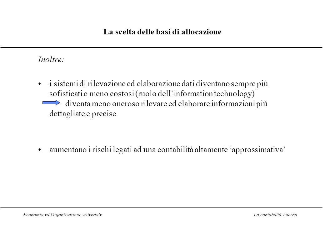 Economia ed Organizzazione aziendaleLa contabilità interna 3.