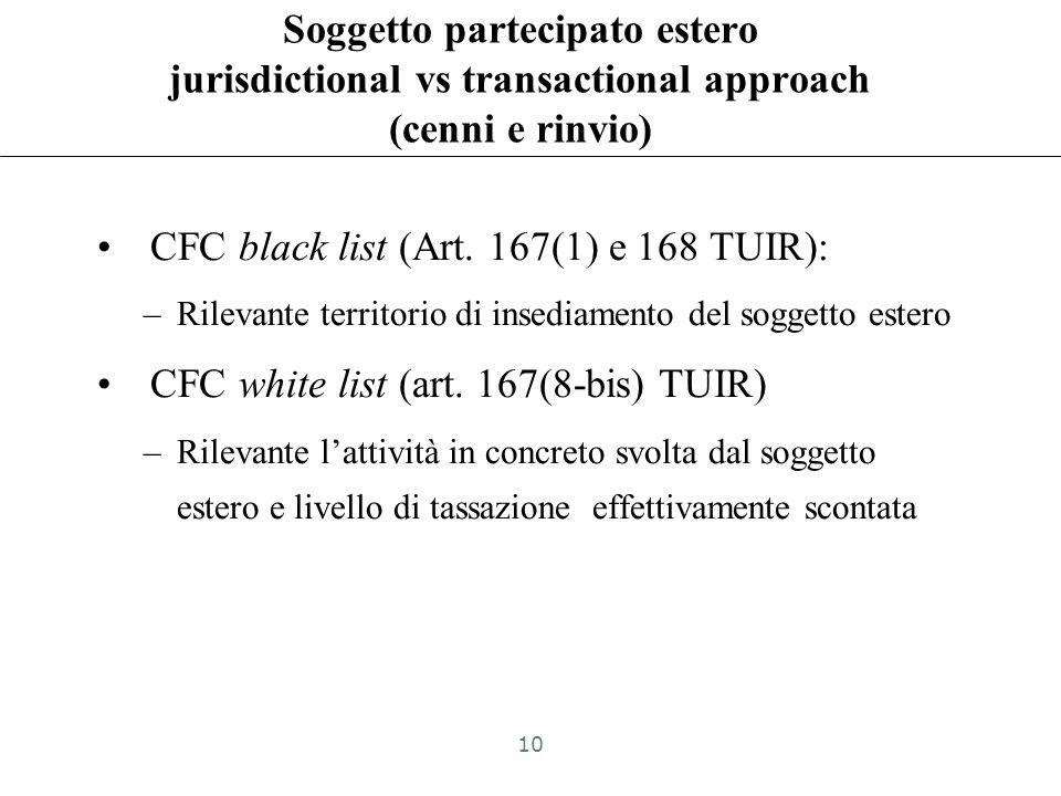 Soggetto partecipato estero Impresa Società Altro ente Stabile organizzazione (eccetto art. 168 TUIR) 9