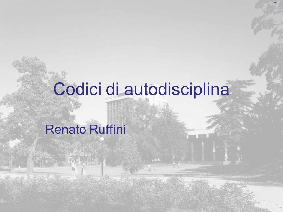 m&m Codici di autodisciplina Renato Ruffini
