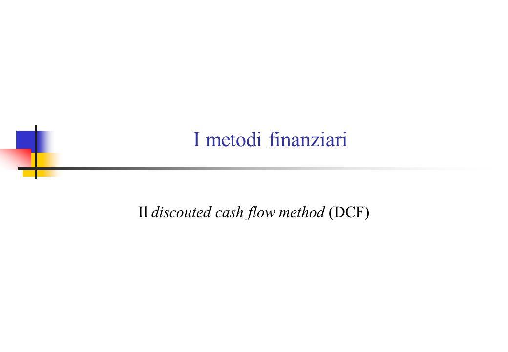 I metodi finanziari Il discouted cash flow method (DCF)