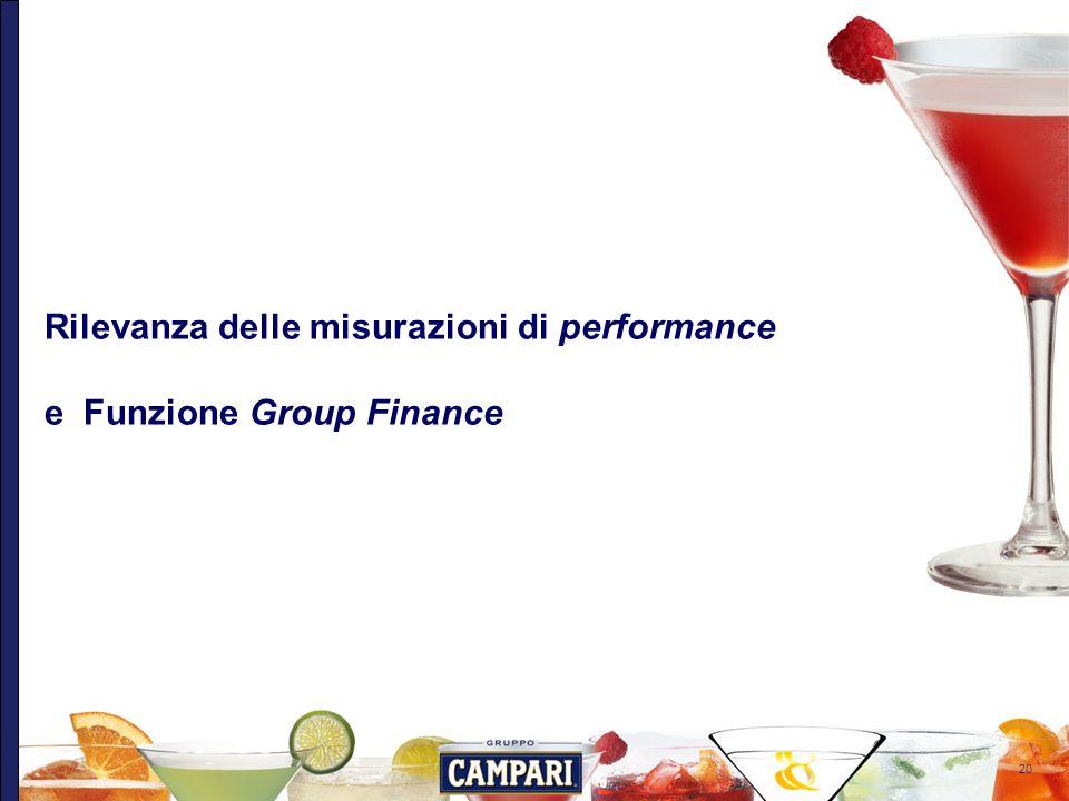 20 Rilevanza delle misurazioni di performance e Funzione Group Finance
