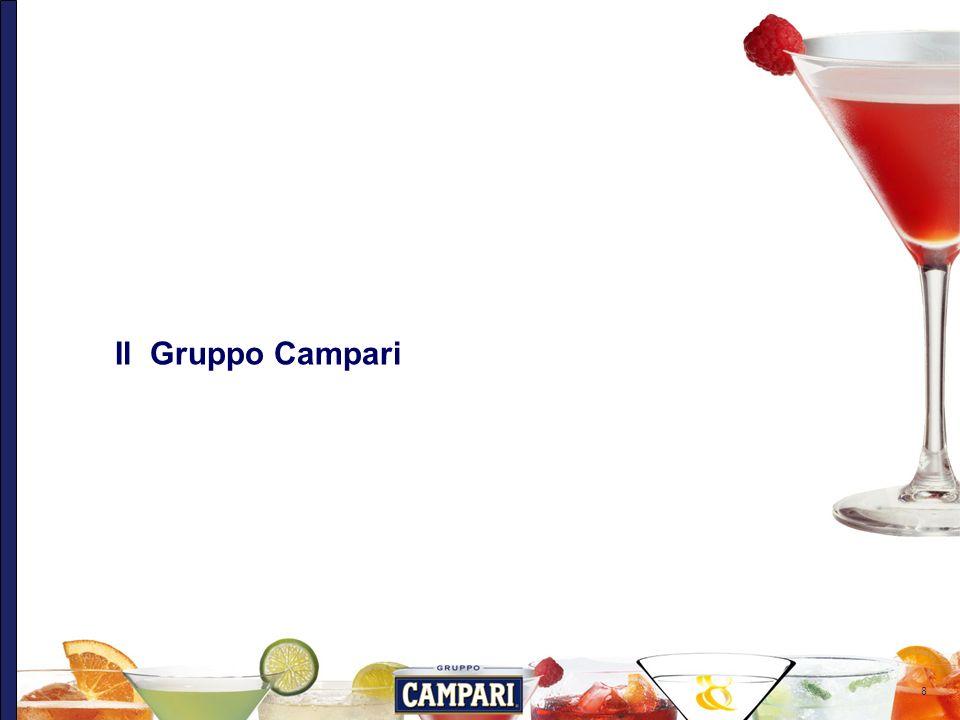 9 Gruppo Campari oggi Gruppo Campari è unazienda leader nellindustria globale del beverage di marca, con un portafoglio di oltre 40 marchi premium e super premium di proprietà, commercializzati e distribuiti in oltre 190 Paesi nel mondo.