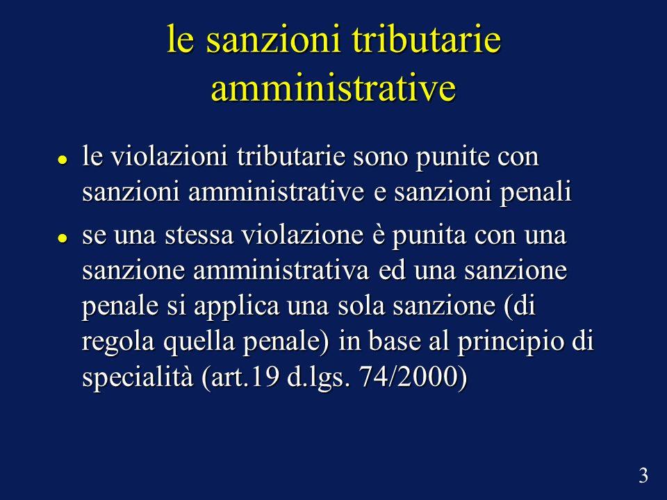 le sanzioni tributarie amministrative le violazioni tributarie sono punite con sanzioni amministrative e sanzioni penali le violazioni tributarie sono