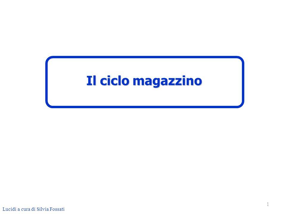 1 Lucidi a cura di Silvia Fossati Il ciclo magazzino