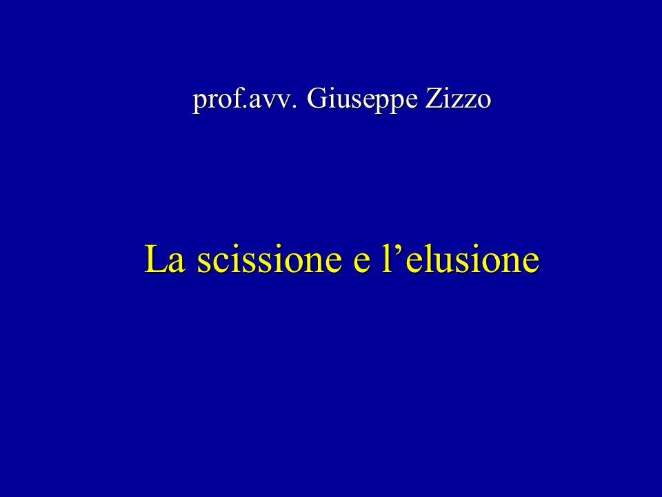 La scissione e lelusione prof.avv. Giuseppe Zizzo