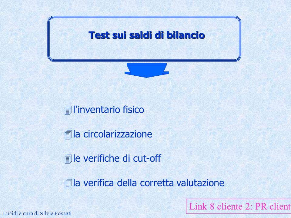 Procedure di analytical review 4la procedura di ricalcolo 4lanalisi di coerenza 4lanalisi di bilancio a fini revisionali Lucidi a cura di Silvia Fossati