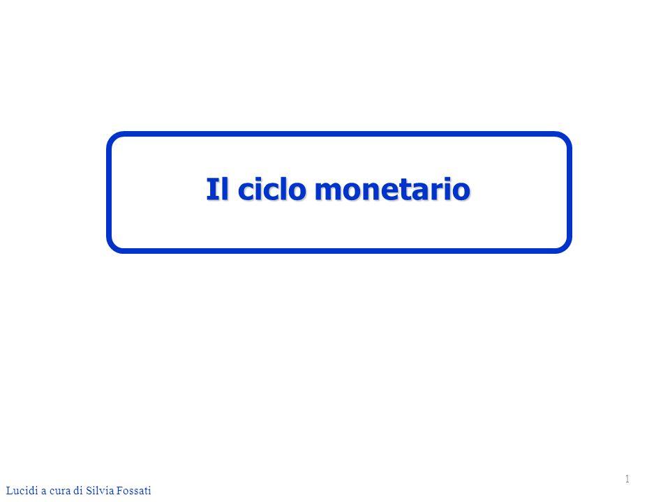 Con riguardo al ciclo monetario, il Codice Civile (art.