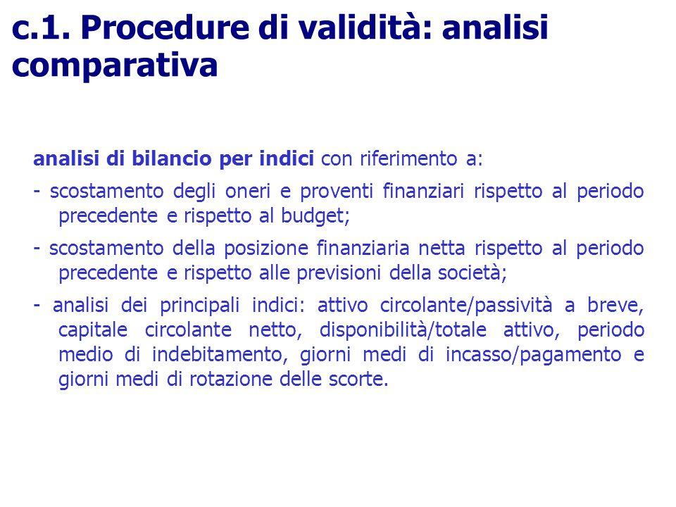 analisi di bilancio per indici con riferimento a: - scostamento degli oneri e proventi finanziari rispetto al periodo precedente e rispetto al budget;