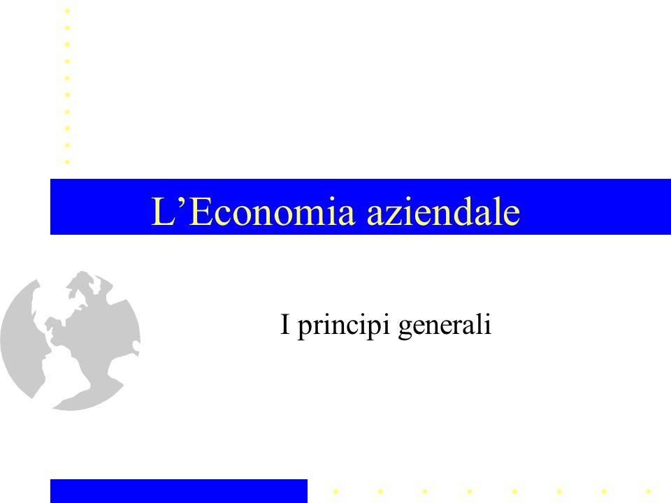 1.Presentazione del corso 2. LEconomia Aziendale: principi generali 3.