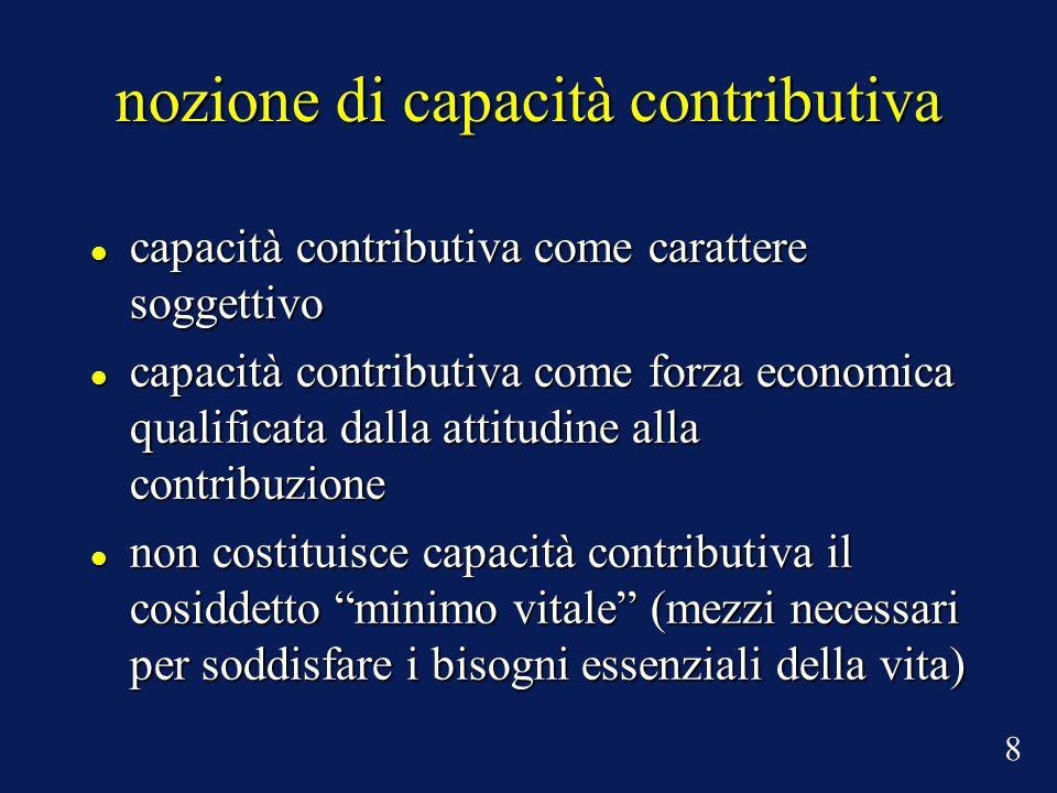 nozione di capacità contributiva capacità contributiva come carattere soggettivo capacità contributiva come carattere soggettivo capacità contributiva