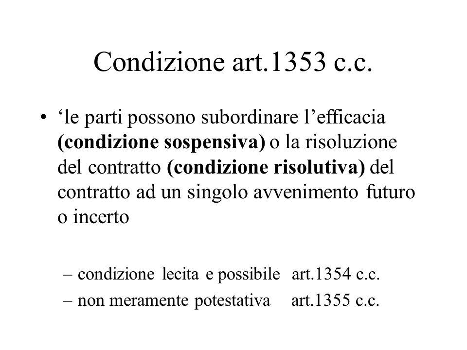 I casi nullità sono a numero chiuso: La mancanza di un elemento essenziale (accordo, causa, oggetto, forma quando è prescritta dalla legge ai fine della esistenza- art.1321/1343/1351/1346 c.c.) illiceità della causa, delloggetto, dei motivi (se comuni ad entrambi), della condizione (art.1343/1345/1346/1354 c.c.), la impossibilità delloggetto, della condizione sospensiva (art.1346/1354 c.c.) la condizione meramente potestativa art.1355 c.c.