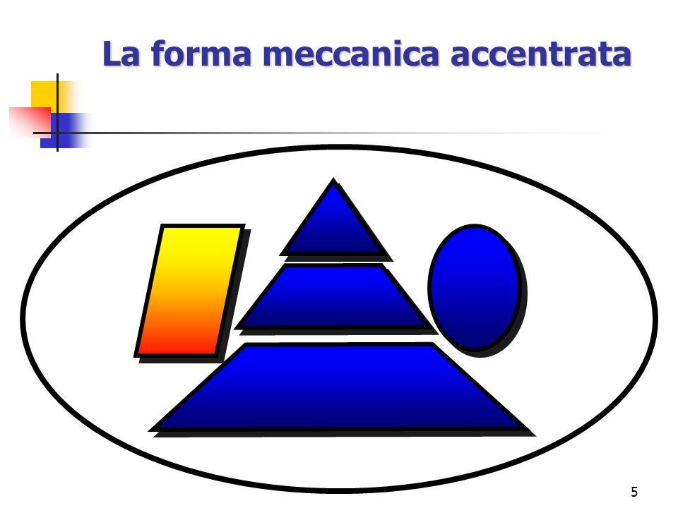 5 La forma meccanica accentrata