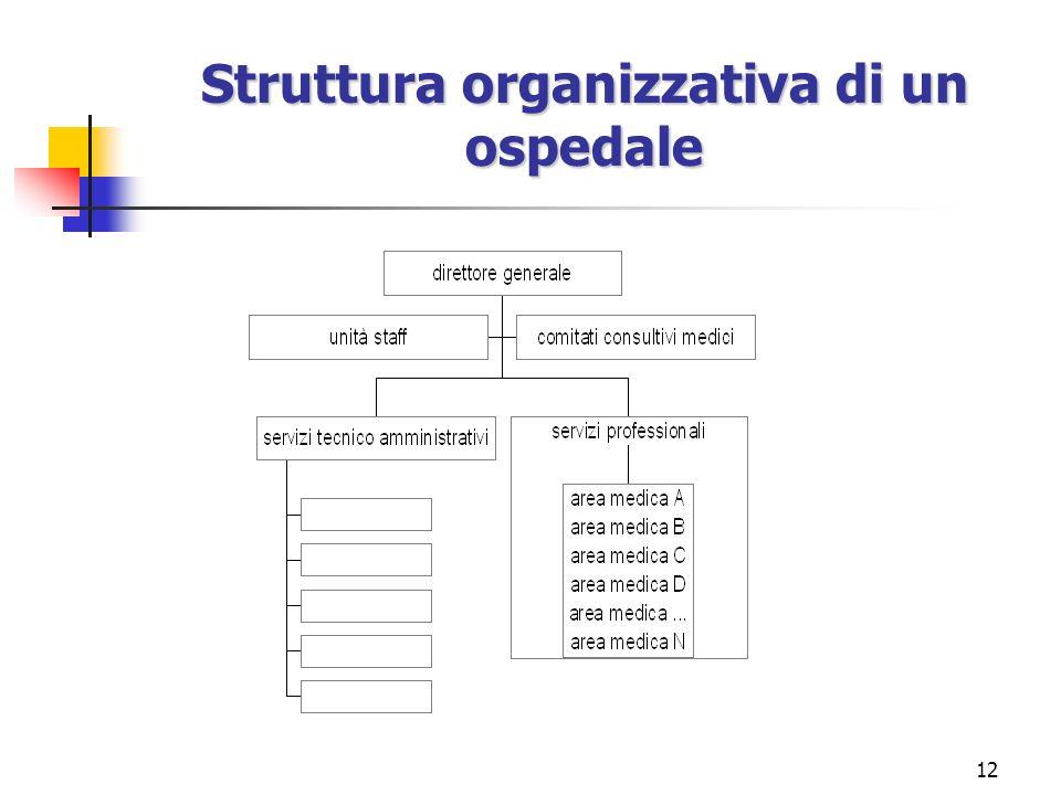 12 Struttura organizzativa di un ospedale