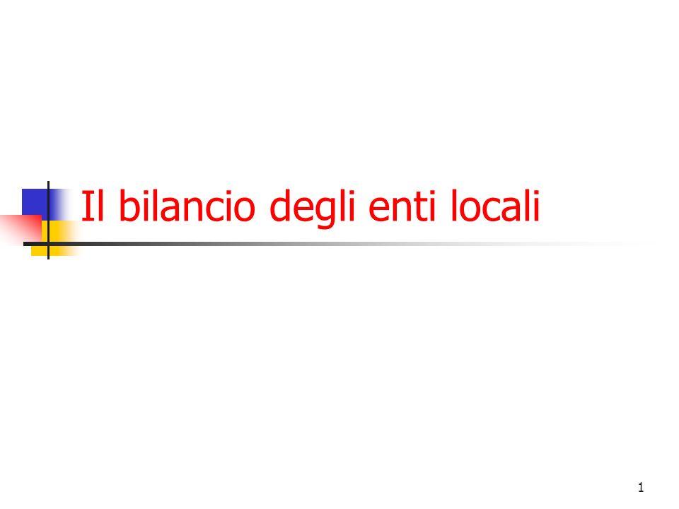 1 Il bilancio degli enti locali