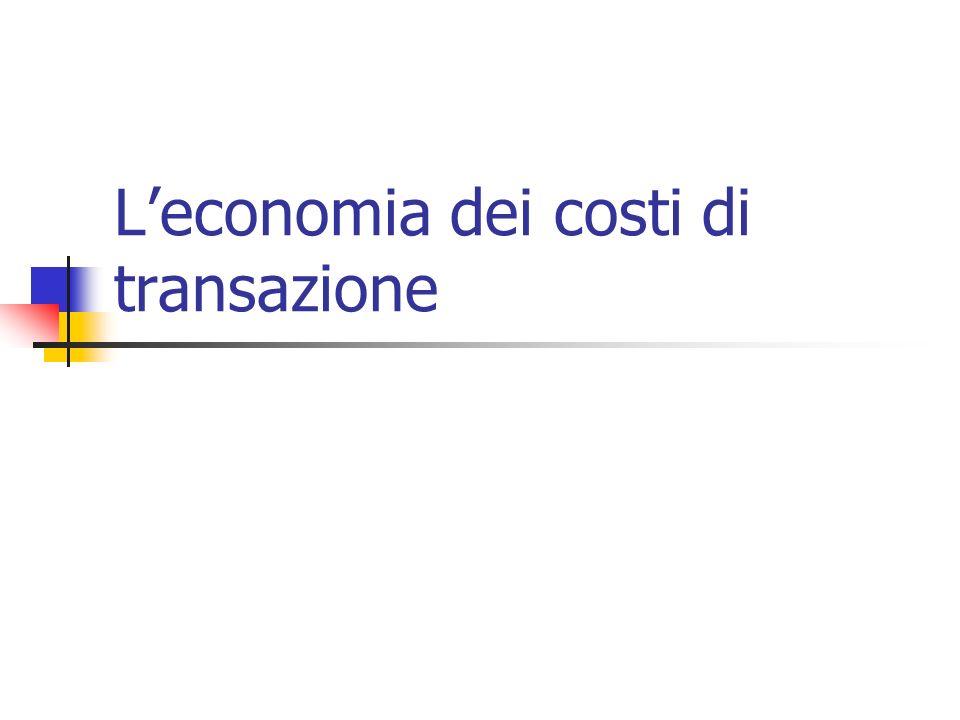 Leconomia dei costi di transazione