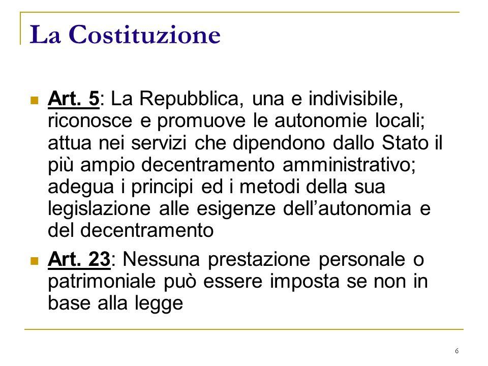 6 La Costituzione Art.