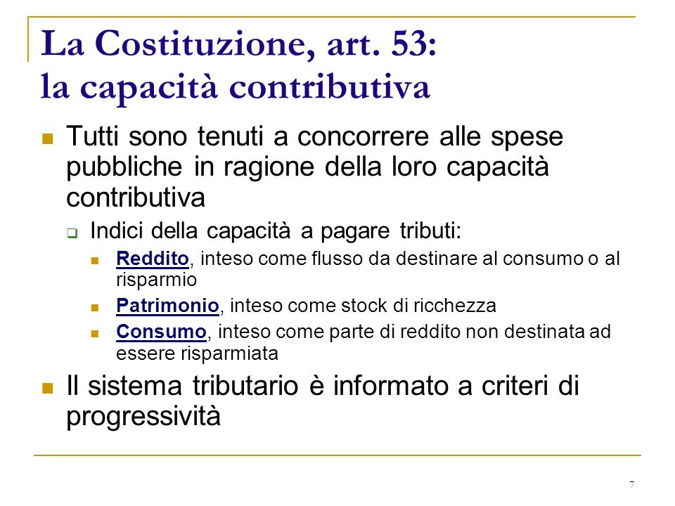 7 La Costituzione, art.