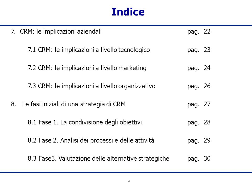4 9. Conclusionipag. 31 Indice