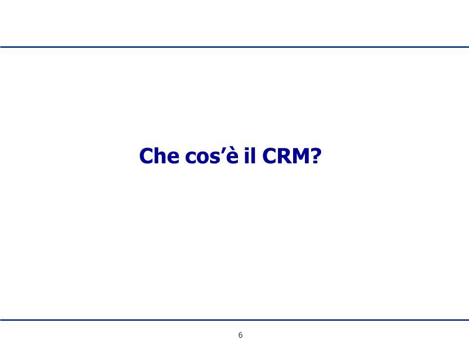 6 Che cosè il CRM?