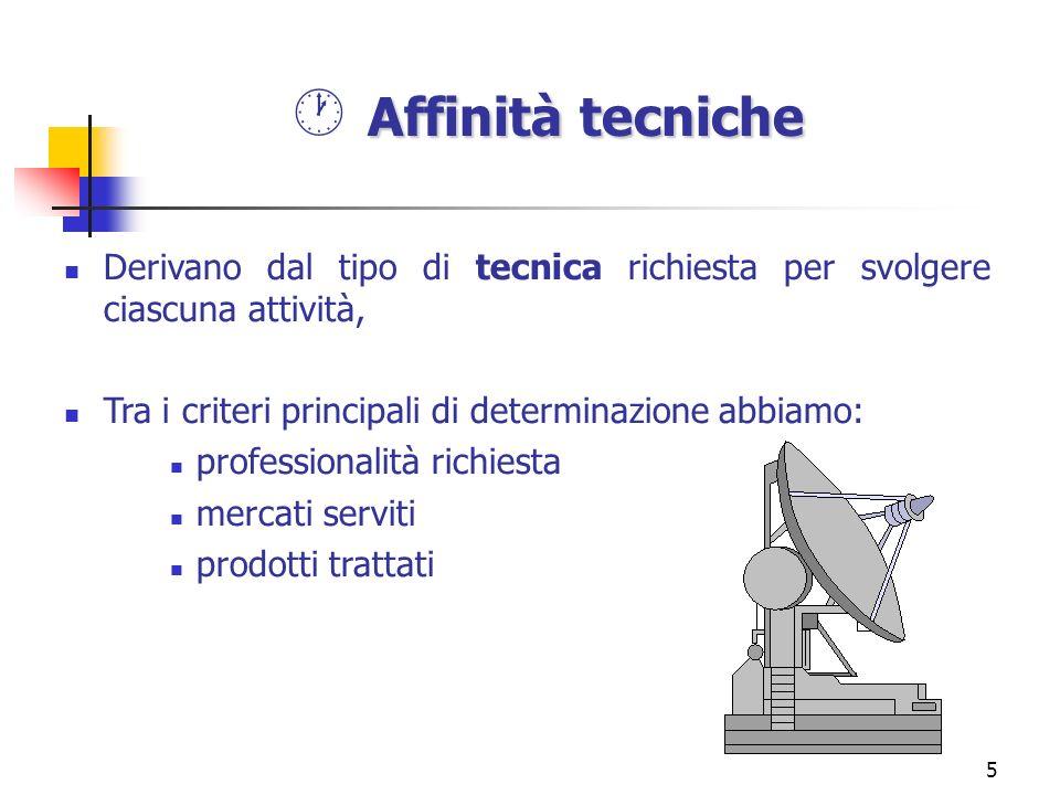 5 Derivano dal tipo di tecnica richiesta per svolgere ciascuna attività, Tra i criteri principali di determinazione abbiamo: professionalità richiesta