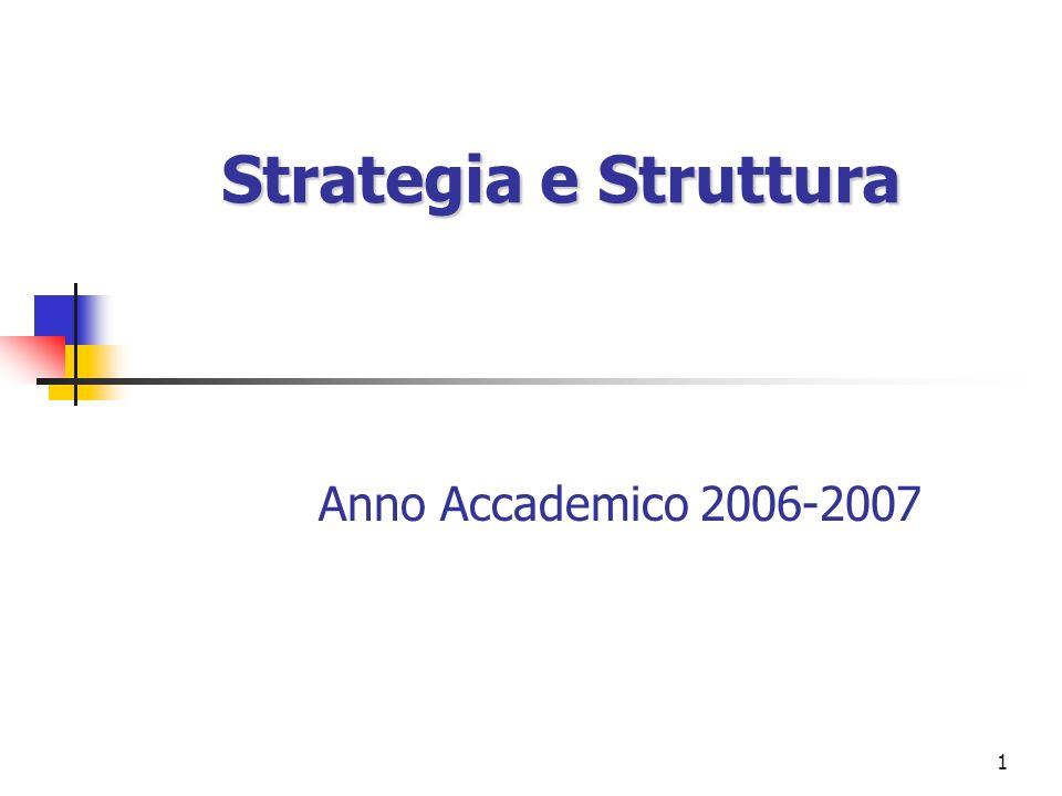 1 Strategia e Struttura Anno Accademico 2006-2007