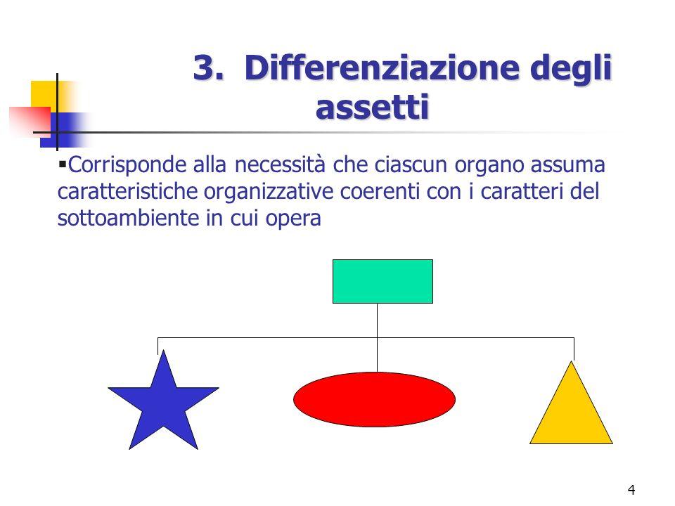 4 3. Differenziazione degli assetti 3.