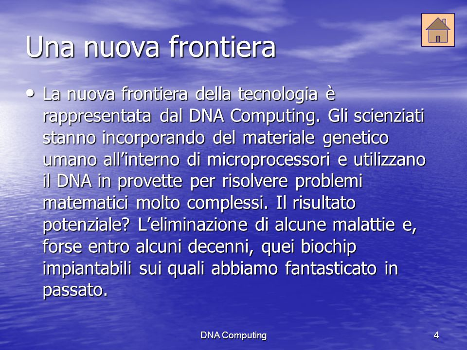 DNA Computing5 Stop alle malattie.
