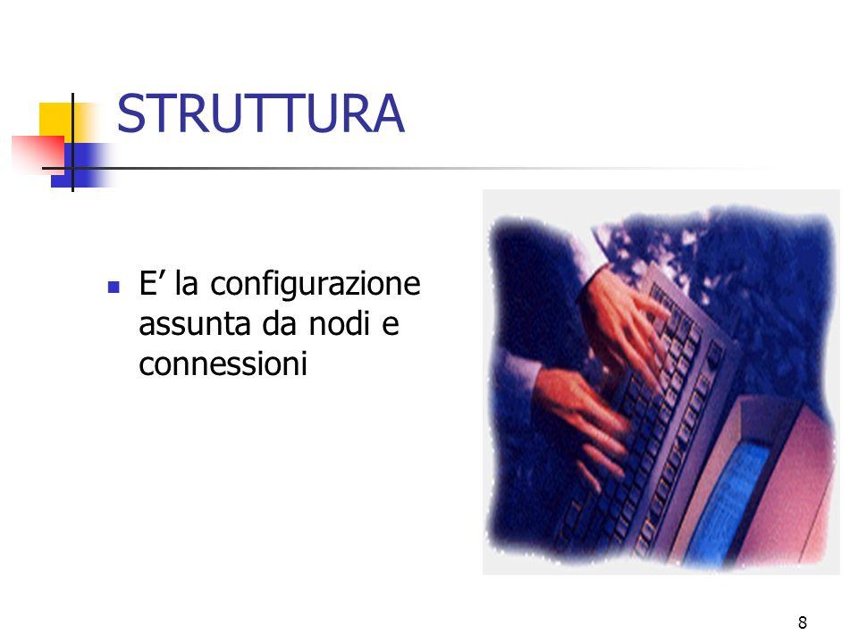 8 STRUTTURA E la configurazione assunta da nodi e connessioni