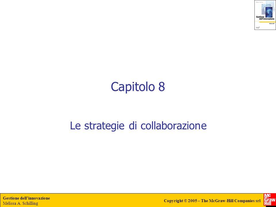 Gestione dellinnovazione Melissa A. Schilling Copyright © 2005 – The McGraw-Hill Companies srl Capitolo 8 Le strategie di collaborazione